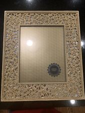 """Sanatini Craft Gold Metal & Mirrored Picture Frame For 8x10"""" Photo Pasabahce"""