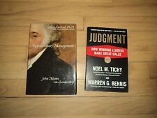 2 Leadership Books Judgment CEOs Decision Making Revolutionary Management Adams