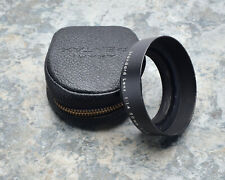 Asahi Pentax Takumar 49mm Standard Metal Lens Hood w/Case 1.4/50 1.8-2/55 #3864