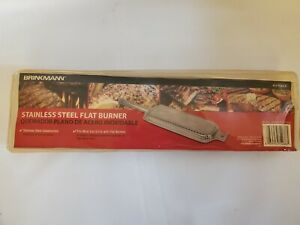 NEW Brinkmann Grill 812-7232-S Replacement Stainless Steel BBQ Grill Flat Burner