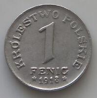 POLAND 1 FENIG 1918 TOP  #kh 067