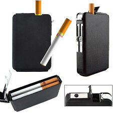 Automatic Wind Proof Lighter Pocket Ejection Butane Cigarette Case Box Quality