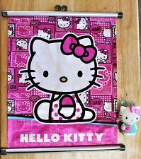 HELLO KITTY ~ sanrio mini-banner 14x11 and McDonalds toy
