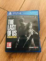 "Jeu PS4 ""The Last of Us Remastered"" playstation 4 en bon etat avec boitier PAL"