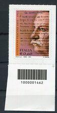 Italia 2012 centenario della morte di Giovanni Pascoli con codice a barre Mnh