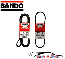 NEW Set of 2 Alternator-Air Conditioning-Power Steering Bando Belt: Honda Accord