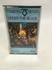 Twisted Sister Under the Blade Cassette Tape Paper Label Italy Import 1982