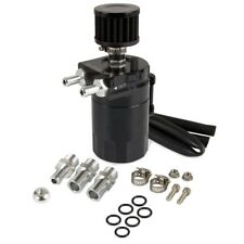 Oil Catch Can Reservoir Breather Can Tank +Filter Kit Cylinder Aluminum Engine
