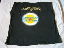 HEATHEN – ultra rare original 1991 EUROPEAN TOUR T-Shirt!! speed power metal