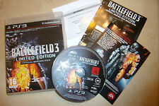SONY PS3 GAME ORIGINAL BATTLEFIELD 3 III LIMITED EDITION COMPLETE PAL GWO