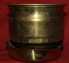 Vintage set 2 brass bowls cups