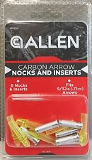 Carbon Arrow Nocks And Inserts - Allen Archery (6-Pack)  68421A Yellow