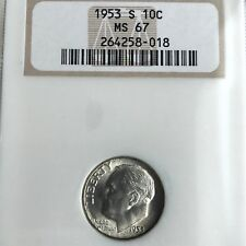 1953 S   ROOSEVELT DIME NGC  MS 67                         X30