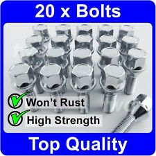 20 x ALLOY WHEEL BOLTS FOR BMW 3-SERIES E21 E30 E36 E46 E90 (M12x1.5) NUTS [H50]