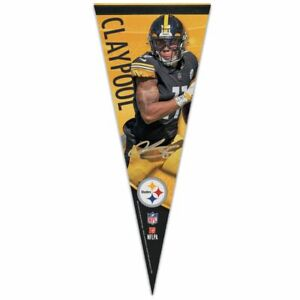 """CHASE CLAYPOOL PITTSBURGH STEELERS ROLL UP PREMIUM PENNANT 12""""x30"""" WINCRAFT"""