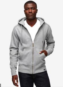 American Giant Classic Full Zip Hooded Sweatshirt Gray Size LARGE