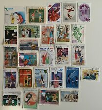 25 Different Volleyball Stamps Collection