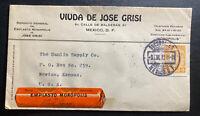 1920 Mexico City Mexico Advertising Cover To Newton KS USA Monopoly Plaster