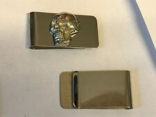 Skull TG117 Fine English Pewter on a Money Clip Chrome