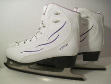 New listing Very Nice Tuv Rhineland German Blade ! White Leather Salsa Ice Skates Women Sz 9
