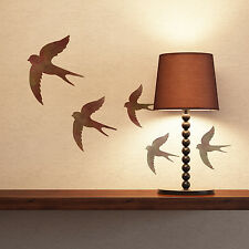 CraftStar Swallows Stencil - Reusable Bird Stencil - 1 sheet with 3 stencils