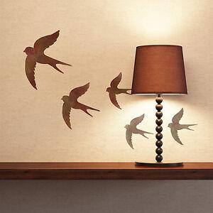 Swallow Stencil - Reusable Bird Stencil Templates - 1 sheet with 3 stencils