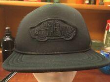 Vans Off The Wall Mesh Trucker Hat Cap Snapback Black