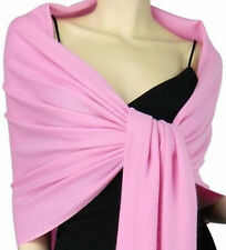 Solid Pashmina Silk Cashmere Shawl Scarf Stole Wrap Muffler LONG 78x28 Elegant