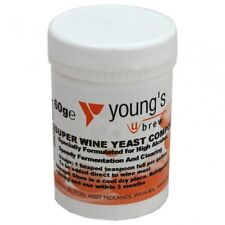 Super Wine Yeast Compound 60g By Young's Home Brew Resealabe Tub