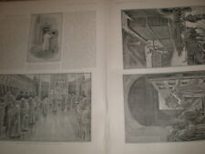 Prints and article Grande Chartreuse Monastery Grenoble France 1901