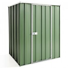 Cheap Shed Flat Roof 1.41m x 1.41m Single Door 3 Colours Garden Storage Shed