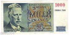 Belgique Belgium Billet 1000 Francs 17/01/ 1958 P131 ROI ALBERT BON ETAT