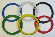 60m Layout Wire 1.4A 7/0.2 Standard DC track power/points/lights 10m x 6 colours