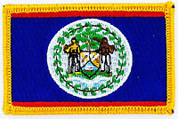 BELIZE FLAG PATCH BADGE IRON ON NEW EMBROIDERED