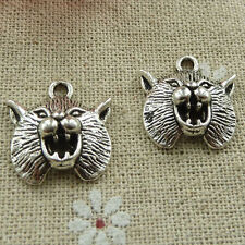 Free Ship 70 pieces tibetan silver wolf charms 20x19mm #825
