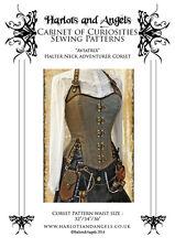 Steampunk / Pirate corset Halter neck style adventurer corset Paper sew Pattern