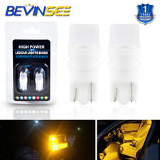 2 of Yellow LED T10 W5W Globe 9V Stop Parking Bulb 194 for Volvo Jaguar MG Smart