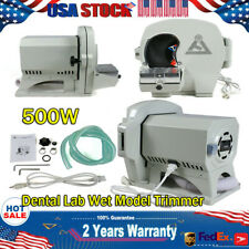 Dental Lab Wet Model Trimmer Abrasive Gypsum Trimming Machine 500w 2800 Rpm Usa