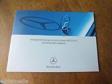 Mercedes mantenimiento cuaderno cuaderno de servicio w211 w212 w221 w203 w204 assyst plus Mobilo