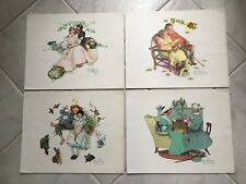 """Collectible Vintage Norman Rockwell """"Four Ages of Love"""" Four Seasons 1970's"""