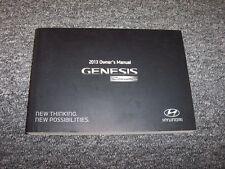 2013 Hyundai Genesis Coupe Owner Owner's Operator User Guide Manual 2.0L 3.8L V6