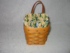 1998 Longaberger Chives Basket Combo with Rose Trellis Liner Protetor + Card