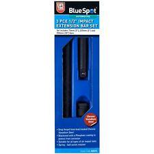 "BlueSpot 3 Piece 1/2"" Drive Impact Extension Bar Set Air Tools 75-250mm 3-10"