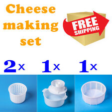Deluxe Cheese Making Kit (4 PCS)| Cheese form | Soft/Hard cheese molds