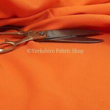 Liso Nuevo Color Naranja Polialgodón Muebles Tela Para Cortinas Tapicería Textil