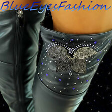 Luxus  High Heels STIEFEL schwarz strass  Partyschuhe designer boots Gr. 35