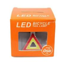 Bicycle LED Tail Lamp Light Safety Bike Hazard Awareness Triangle  VERY BRIGHT