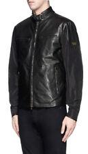 £645 Matchless Mens Black Part Leather Jacket Medium Biker Mold Lighter Weight