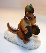 Charming Tails Chipmunk Figurine ~ Chauncey's Noisemakers by Fitz & Floyd Nib