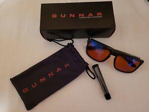 Gunnar Intercept Amber Lens Block Blue Light Anti-Glare Onyx Computer Eyewear